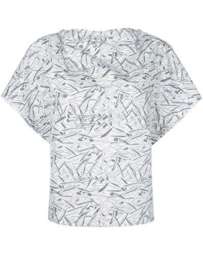 Блузка с короткими рукавами - белая Chalayan