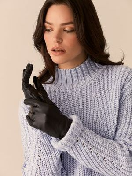 Кожаные перчатки Love Republic