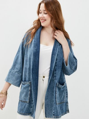 Синий пиджак Violeta By Mango