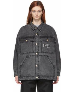 Джинсовая куртка черная длинная Eytys