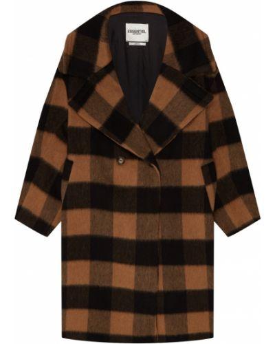 Пальто классическое оверсайз в клетку Essentiel Antwerp
