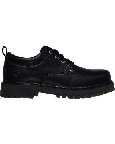 Черные кожаные полуботинки Skechers