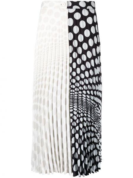 С завышенной талией плиссированная черная юбка миди Mm6 Maison Margiela