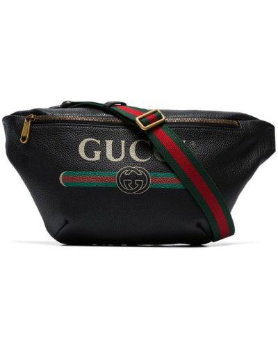 Сумка через плечо - черная Gucci