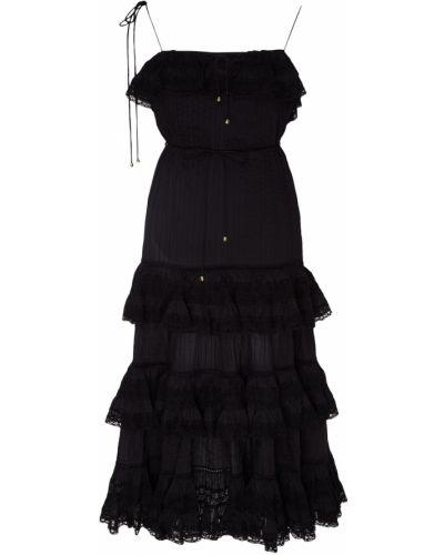 Платье мини с вырезом с оборками Zimmermann