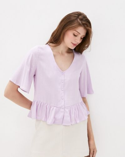 Фиолетовая блузка с коротким рукавом с короткими рукавами Defacto