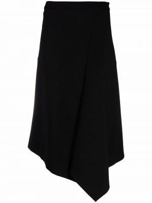 Czarna spódnica midi z wysokim stanem asymetryczna Dorothee Schumacher