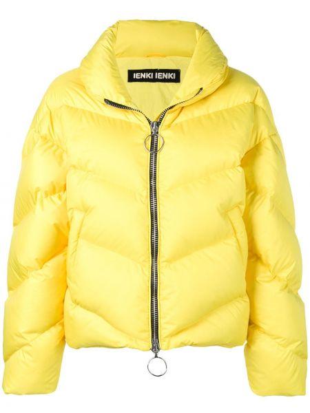 Желтая куртка на молнии с воротником с карманами Ienki Ienki