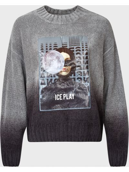 Акриловый серый свитер Ice Play