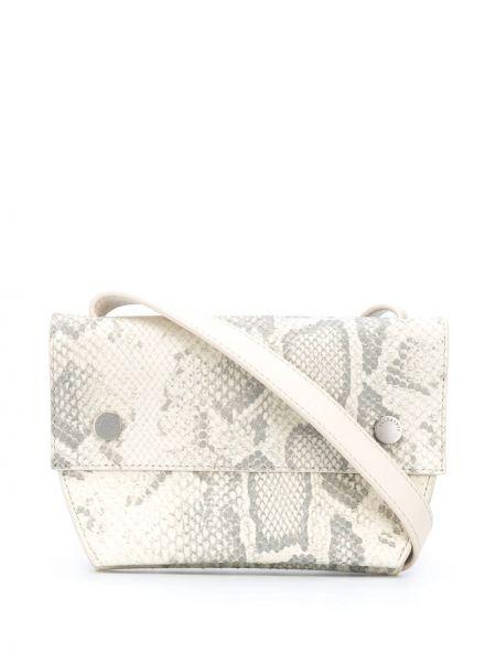 Белая кожаная поясная сумка с карманами Allsaints