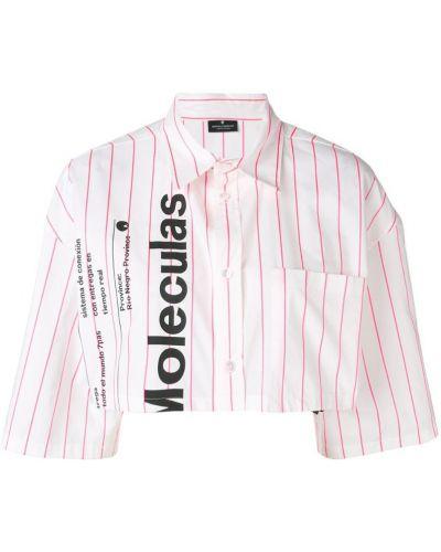 Классическая рубашка белая с принтом Marcelo Burlon. County Of Milan