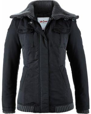 Зимняя куртка утепленная черная Bonprix