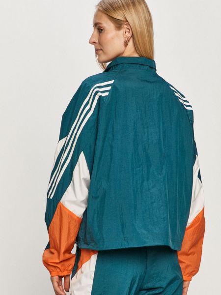 Повседневный зеленый спортивный костюм на молнии Adidas