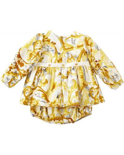 Платье из поплина - белое Versace