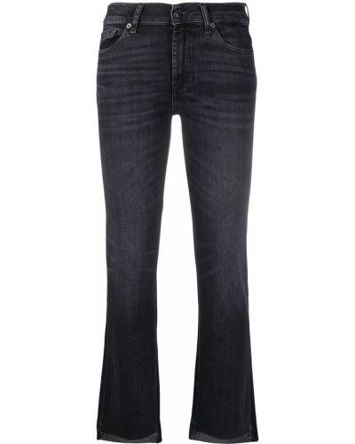 Черные укороченные джинсы с карманами на пуговицах 7 For All Mankind