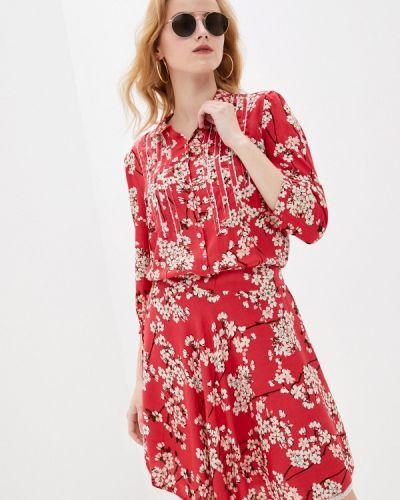 Розовое платье-рубашка Allegri