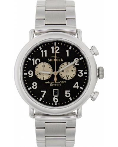 Biały zegarek kwarcowy srebrny kwarc Shinola