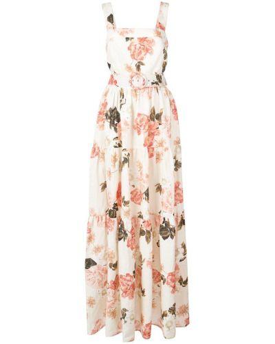 Платье макси розовое с открытой спиной Nicholas