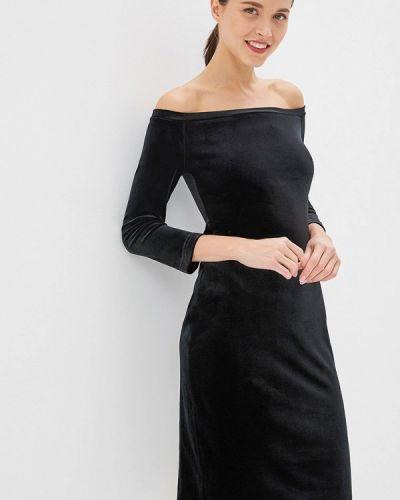 Платье с открытыми плечами черное Irina Vladi