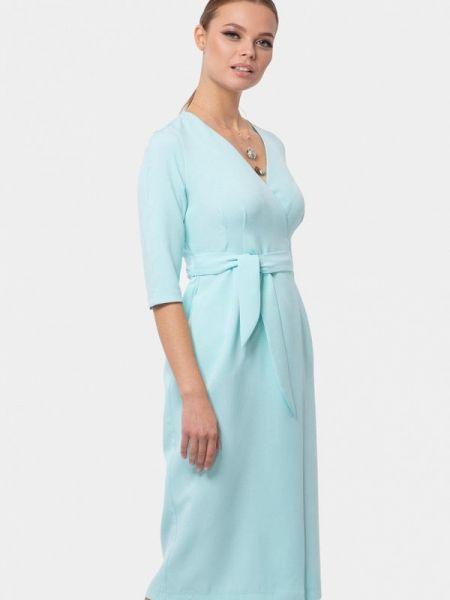 Платье с запахом бирюзовый Vladi Collection