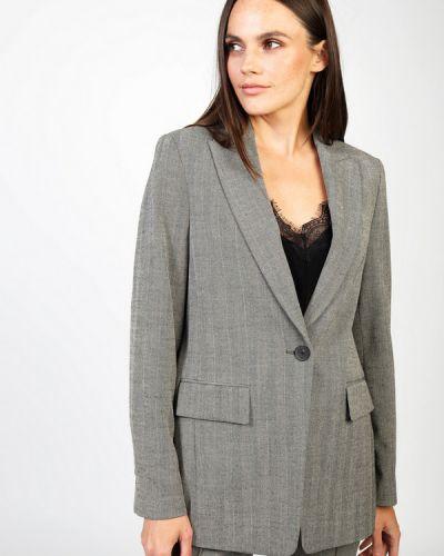 Серый пиджак из вискозы Set