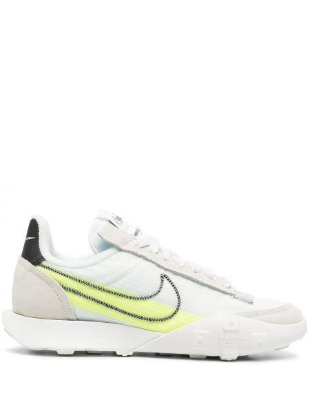 Koronkowa włókienniczy biały sneakersy na sznurowadłach Nike