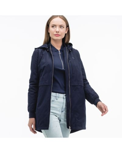 Куртка с капюшоном на молнии синий Lacoste