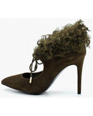 Туфли на каблуке зеленый замшевые Ilvi