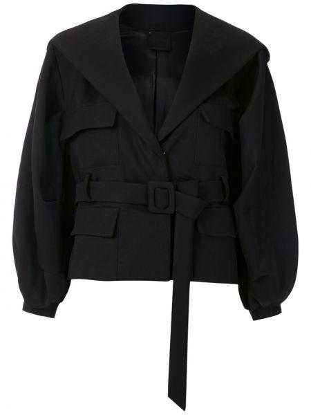Черная короткая куртка с капюшоном с воротником Andrea Bogosian