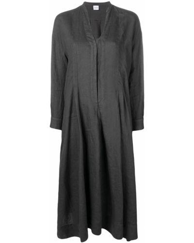 Платье миди серое на пуговицах Aspesi