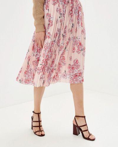 Плиссированная юбка розовая Incity