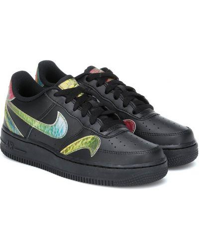 Skórzany czarny sneakersy Nike Kids