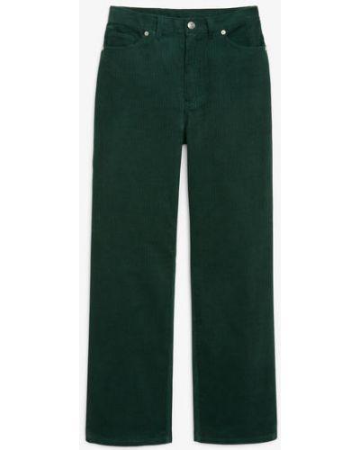 Брюки вельветовые - зеленые Monki
