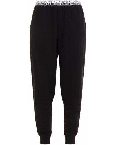 Хлопковые черные брюки с карманами Calvin Klein