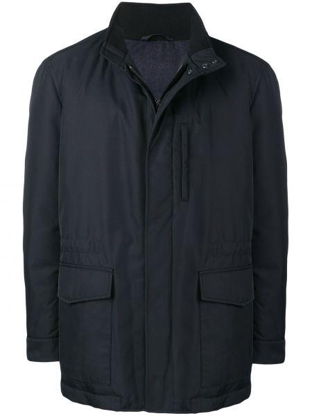 Длинная куртка - синяя Brioni