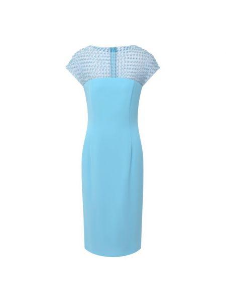 Синее купальник-платье шелковое платье немецкое Escada