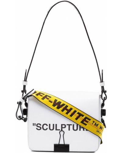 Белая кожаный сумка Off-white