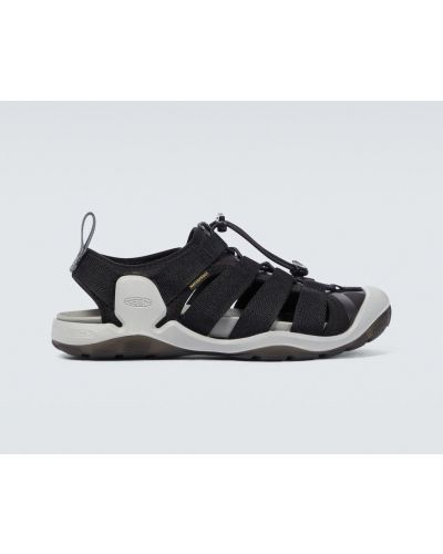 Текстильные черные сандалии на шнуровке Keen