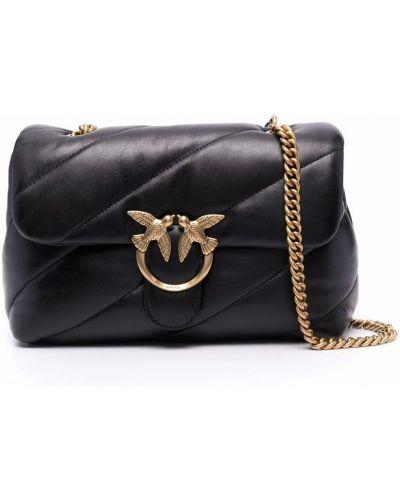 Кожаная сумка - черная Pinko