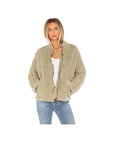 Стеганая куртка на молнии зеленая Free People