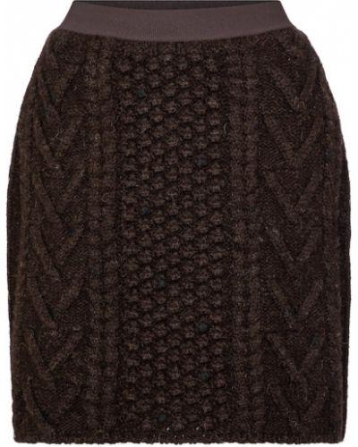 Spódnica tweedowa - brązowa Bottega Veneta