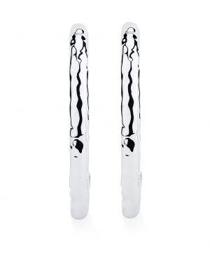 Серебряные серьги-гвоздики оверсайз с декоративной отделкой Ippolita
