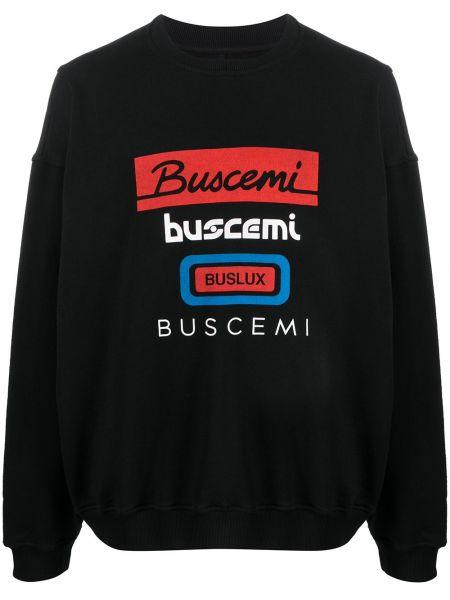 Czarna bluza z długimi rękawami oversize Buscemi