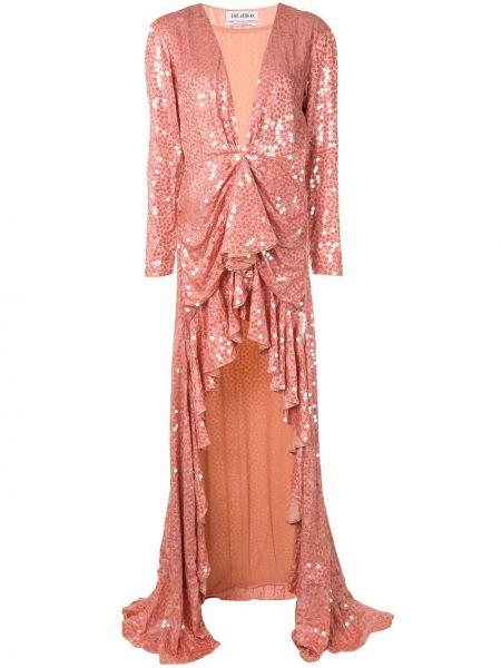 Вечернее платье с пайетками с декольте The Attico