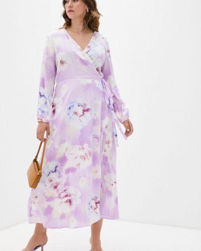 Платье с запахом - фиолетовое Svesta