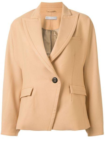 Приталенная коричневая куртка на пуговицах с карманами Palmer / Harding