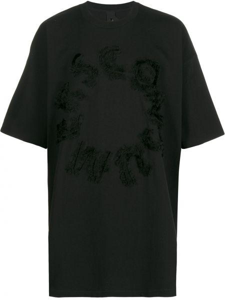 Футбольная черная футболка с вышивкой со спущенными плечами Camper Lab
