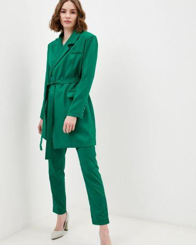 Костюмный зеленый брючный костюм Rich & Naked