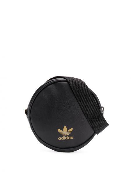 Czarny pasek z paskiem Adidas