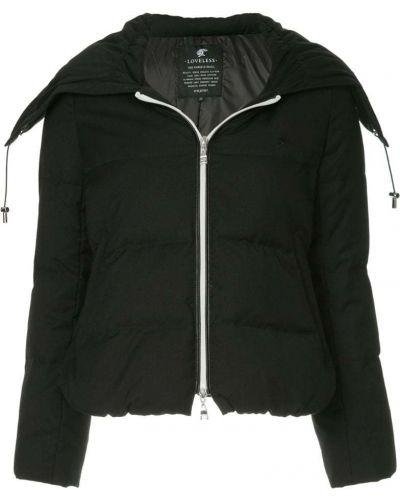 Дутая куртка черная на молнии Loveless